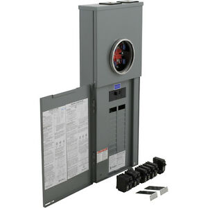 Square D 200 amp 40 circuit 20 space Outdoor Main breaker Load panel Value Pack