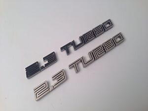 2015 2018 Ford Mustang Ecoboost 2 3 Turbo Badge Emblem In Black