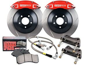Stoptech Touring Bbk Big Brake Kit front red 4 Pistons slotted 355mm Rotors
