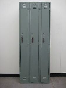 Used Light Green School Metal Lockers 27 w X 12 d X 72 h