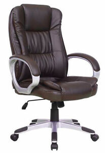 High Brown Pu Leather Executive Office Desk Task Computer Boss Luxury Chair