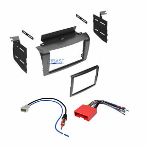 Double Din Install Stereo Dash Kit Harness Antenna For 2004 2009 Mazda 3