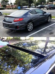 2013 Painted For Honda Accord 9th 2 Door Coupe M Design Rear Roof Spoiler Wing