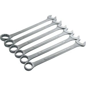 Quality Jumbo 6 Pc Combination Spanner Set Sizes 33mm 50mm Extra Large Spanner