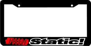 Static Stance Bagged Lowered Lol Funny Wakaba Jdm License Plate Frame