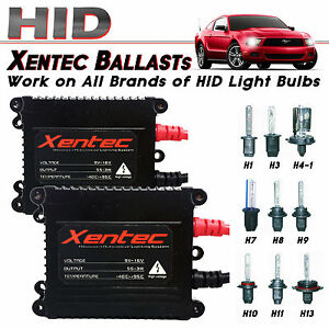 Two Xentec Xenon Hid Kit S Replacement Slim 55w Ballast H4 H7 H10 H11 H13 9006
