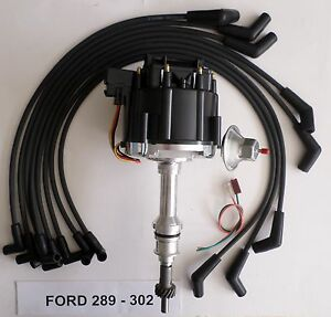 Ford Small Block 221 260 289 302 Black Hei Distributor Spark Plug Wires Usa