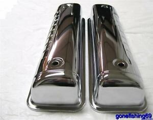 1954 1964 Ford Small Block Ford Y Block Valve Covers Chrome 272 292 312 Sbf