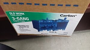 Carlon B355r Outlet Box Old Work 3 Gang Box Of 6