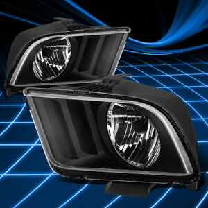 Fit Ford Mustang 2005 2009 Black Clear Housing Left Right Headlights Lamp Lights