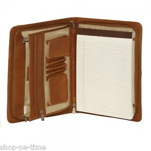 Piel Leather Three way Envelope Full grain Cowhide Saddle Leather Padfolio new