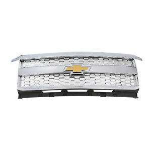 Oem New Front Chrome Grille W bow Tie 15 19 Silverado 2500 Hd 3500 Hd 23207684