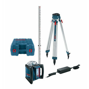 Self leveling Rotary Laser 1650 Distance Complete Kit Bosch Tools Grl500hck New