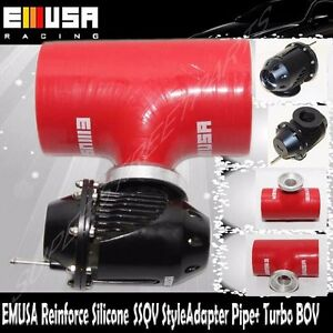 Emusa Red 2 5 Reinforce Silicone Adapter Ssqv Style Pipe Turbo Bov For Civic