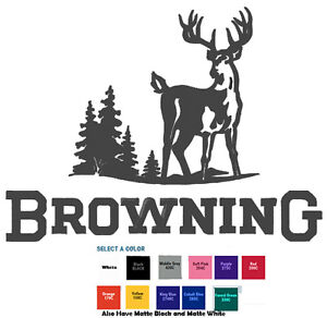Browning Hunting Decal Diecut Sticker Self Adhesive Vinyl