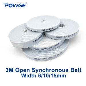 Pu White Htd 3m Open Synchronous Timing Belt Width 6 10 15mm Polyurethane Cnc
