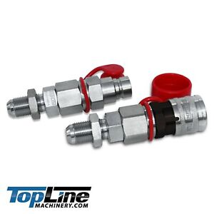 Tl24 10 Jic Thread 1 2 Flat Face Hydraulic Quick Connect Coupler Skid Steer