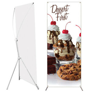 Popup Banner Stand 24 X 63 Adjustable And Travel Bag
