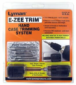 New Lyman Products E-ZEE Trim Hand Case Trimmer Rifle Set Free Shipping
