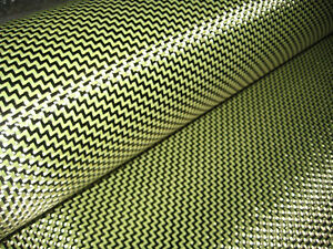 Carbon Fiber yellow Kevlar Fabric 200gsm 40 40 W Shape Weave