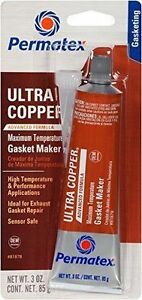 Permatex 81878 Ultra Copper Maximum Temperature Rtv Silicone Gasket Maker 3 Oz