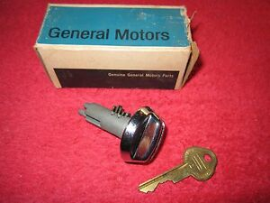 Mid 1960 s Gm Glove Box Lock Part 7734305 With Key New Old Stock