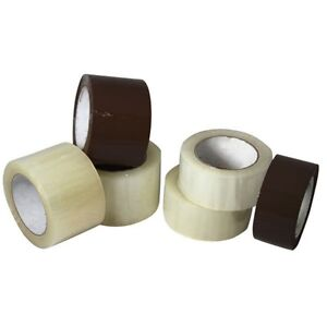 36 Rolls Carton Box Sealing Packaging Packing Tape 2 1mil 2 X 110 Yard Clear