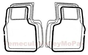 Door Weatherstrip Set For 1954 1960 Dodge Trucks
