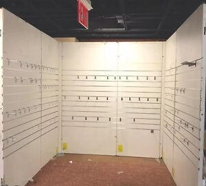 Used Trade Show Booth White Slatwall Merchandiser Display Show Room Made In Usa