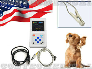 Us Seller Cms60d Vet Veterinary Pulse Oximeter Spo2 Pr Monitor Vet Probe Pc Sw