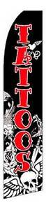 Tattoos Advertising Feather Flutter Swooper 2 5 Banner Flag And Pole Only