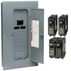 New Square d 100 amp 20 space 40 circuit Indoor Main breaker Panel Load center