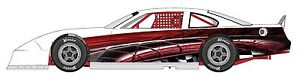 Race Car Wrap Graphics Decals Imca Late Model Dirt 11