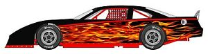 Race Car Wrap Flame Graphics Decals Imca Late Model Dirt 17