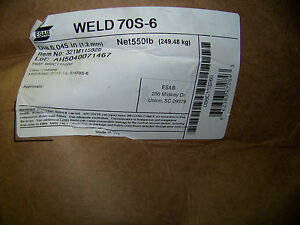 Esab Weld 70s 6 Wire 045 Dia Item 321m115920 New