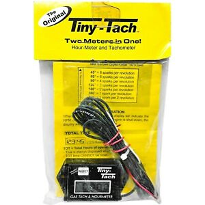 New Tiny Tach Hour Meter Gas Tach Meter Two Cylinder Motor 2 Impulse Engine Atv