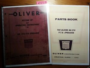Oliver 270 Pto Spreader Setting Up Owner s Operator s Manual Parts Catalog