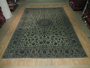 Unique Signed Famous Weaver Rug Pistachio Handmade 10x13 Persian Isfahan Rug