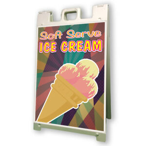 Soft Serve Ice Cream Sidewalk A Frame 24 x36 Concession Stand Outdoor