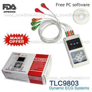 24 Hours 3 Channel Ecg Ecg ekg Holter Monitor System pc Software