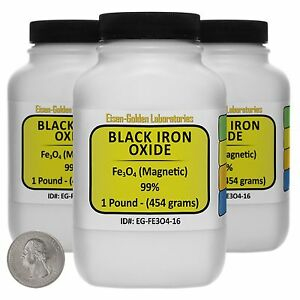 Black Iron Oxide fe3o4 99 Acs Grade Powder 3 Lb In Three Space saver Bottles
