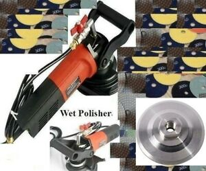 Variable Speed Concrete Granite Stone Wet Polisher 5 Inch Polishing Pad 33 Piece