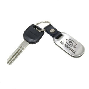 Subaru Impreza Forester Steel Key Blank W Stainless Steel Key Chain Genuine Oem