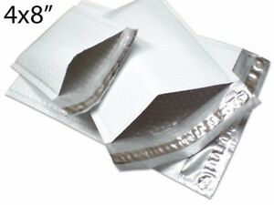 500pcs 000 4x8 Gray Poly Bubble Padded Shipping Envelope Mailers Bag