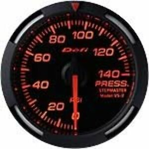 Defi Df06602 Racer Fuel oil Pressure Gauge Red 52mm