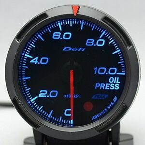 Defi Df06601 Racer Fuel oil Pressure Gauge Blue 52mm