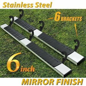 For 2007 2018 Silverado Sierra Double Cab 6 Nerf Bar Side Step Running Board Oe