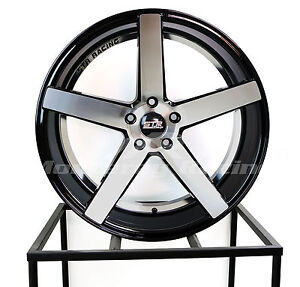 20x9 20x10 5 5x120 Str 607 Black Machine Bmw Chevy Camaro Chrysler