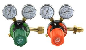 S a Oxygen And Propane Propylene V350 Regulators Gauges Compatible With Victor