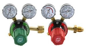 S a Oxygen And Acetylene V350 Regulators Gauges Compatible With Victor